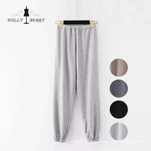 Knitting Loose Joggers Sports Black Yoga Pant Slacks