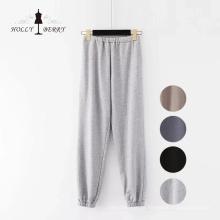 Tricotagem solta corredores esportes preto yoga calça calças