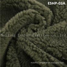 100% Polyester Faux Sherpa Fur Eshp-03A
