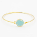 Simple Fashion Bangle with Custom Made Coin & Enamel Background