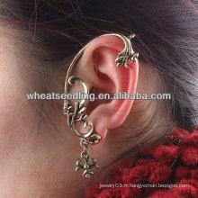 Hot Sale Punk Style oreille manchette boucles d'oreille strass Ear Clips EC08