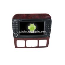 Kaier Usine directement! Android 4.4 lecteur dvd de voiture pour Benz S + OEM + DVR + Dual core + TPMS + Lien Miroir + OBD!