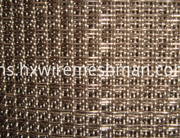 crimped stainless steel mesh