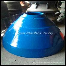 Manteau à haute teneur en manganèse, pièces d'usure concaves pour le concasseur à cône