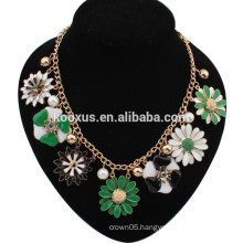 New Design Lady Women Bib Statement Gorgeous multi Crystal necklace Collar Jewelry