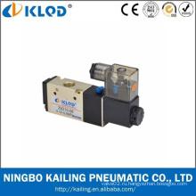 Соленоидный клапан 110v / Двухпозиционный пятиходовой / алюминиевый сплав Пневматический соленоидный клапан