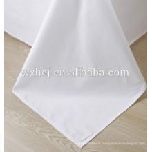 tissu blanc de satin de coton d'hôtel de housse de couette de coton