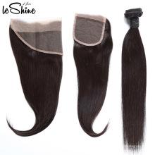 Дешевый продукт 13x4 шелковистой Выровнянная Надкожица кружева Фронтальная с ребенком волос
