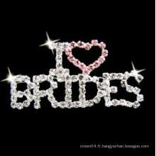 Lettre d'Alibaba Mère de la broche de mariée pour la décoration de vêtement