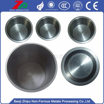polished tungsten crucible for sintering