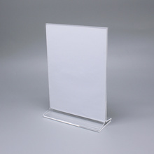 Clear Acrylic Table Price Display Stand