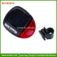 USB 2.0 Solar Rechargeable LED vélo sécurité arrière queue lumière