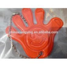 Promotion Reflective Key Chain, Soft PVC Key Chain Custom, Shape Hand Key Chain