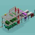 Destilación fraccionada industrial de aceite de motor usado