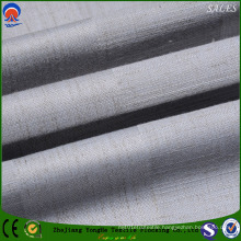Polyester/ Linen Flame Retardant Black out Curtain Fabric for Home Textile
