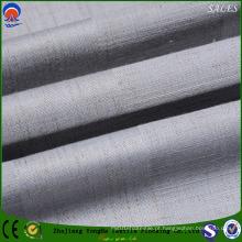 Poliéster / Linho Flame Retardant Black out tecido de cortina para Home Textile