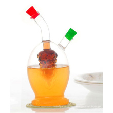Set of 2 Customized Logo Glass Oil and Vinegar Bottle