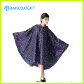 Allover Printed Fashion Women′s EVA Rain Poncho