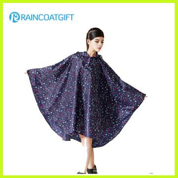 Allover Printed Fashion Women′s EVA Rain Poncho