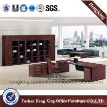 Modern Walnut Melamine Executive Office Table (HX-5DE292)