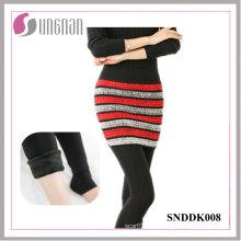 2015 inverno falso de duas peças leggings de pé de fleece culottes (snddk008)