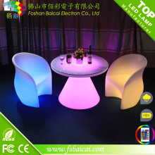 New Design 16 Colors Changing Hotel Furniture LED Bar Table