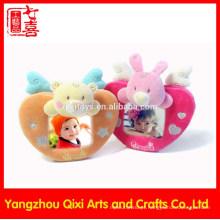 China artesanal bebê 12 meses coração em forma de amor moldura de brinquedo de pelúcia