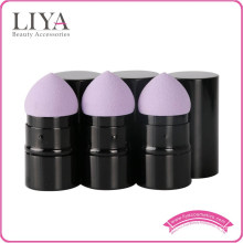 New Design Aluminum Ferrule Retractable Makeup Brush foundation sponge