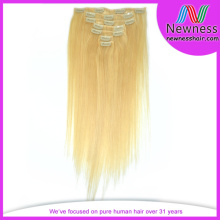 100% Unprocessd kinky straight clip in hair extensions