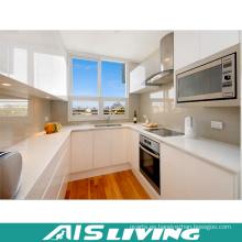 Muebles de gabinete de cocina blanco brillante (AIS-K154)