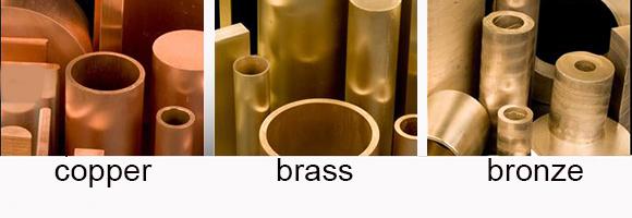 Machining copper materials