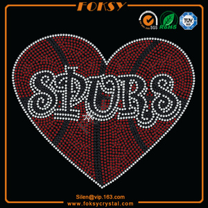 Spurs rhinestone iron on transfer