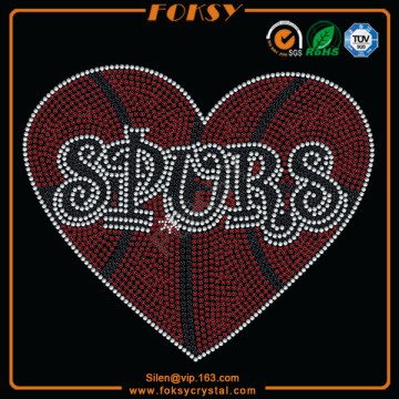 Spurs crystal hot fix rhinestone transfers