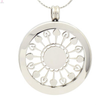 Suporte de pingente de milho de prata de moda, jóias de titular de moeda simples de prata