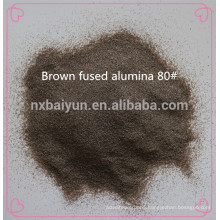 Abrasive brown fused alumia and white alumina oxide