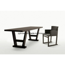 Estilo europeu móveis de madeira mesa de jantar de madeira (E-27)