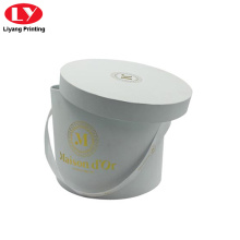 Round Paper Flat Gift Box for Flower