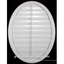 Hölzerne Plantagenfensterläden der speziellen Form der runden Form