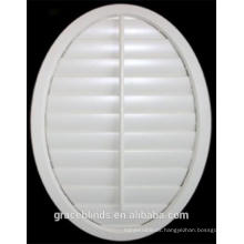 Round shape special shape wooden plantation shutters