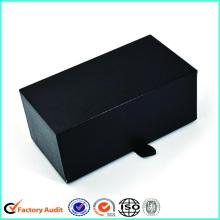 Boîtes-cadeau noires de broche de cravate de carton de carton