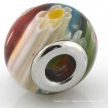 Perle de verre colorée de 5 mm de perle colorée