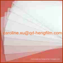 Alta Vidrio Brillante Garment Accesorios Collar Inserción Rígido PVC Film