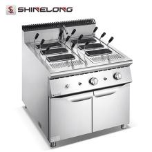 Furnotel free-standing gás comercial / equipamento de cozinha de macarrão elétrico máquina de massa de panela