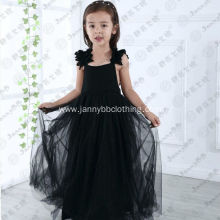 black couture ball gown flower girl dress