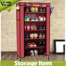 Cabinet imperméable de stockage étagère de chaussure de tissu antipoussière