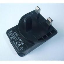 5 в 1A Великобритания BS 3-Контактный USB-адаптер с сертификатом CE