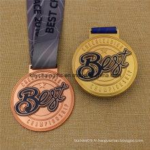 Médaille de la meilleure médaille faite sur commande de champion de médaille avec le ruban