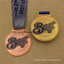 Custom Best Medal Championship Sports Medal with Ribbon