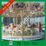 Factory outlet shopping mall amusment equipment kiddie games used fiberglass merry go rounds ride for sale