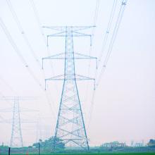 Torre de acero del ángulo de la transmisión de la energía del circuito doble de 220 kilovatios
